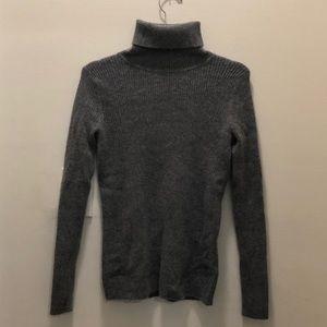 Demylee Grey Cashmere Turtleneck Sweater